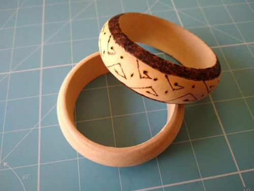 Bangle - tribal design