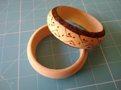 Bangle - tribal design